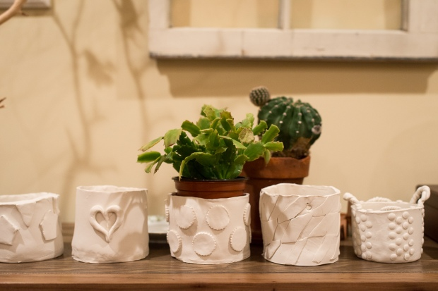 DIY Clay Planters - Jackietara blog