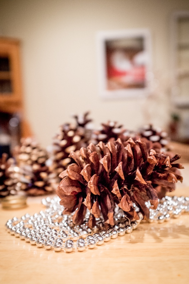 DIY Gold Dipped Pine Cones - Jackietara blog